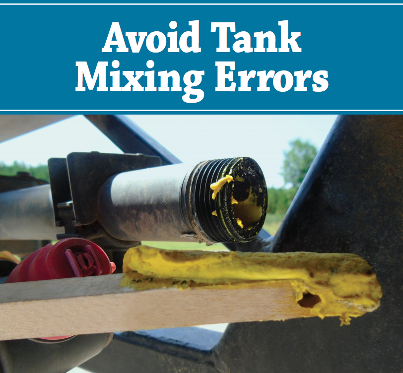 How to avoid tank mix errors